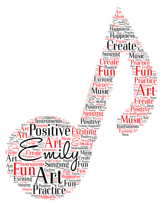 Emily's word cloud