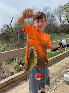 Hayden is super proud of his weekend catch!