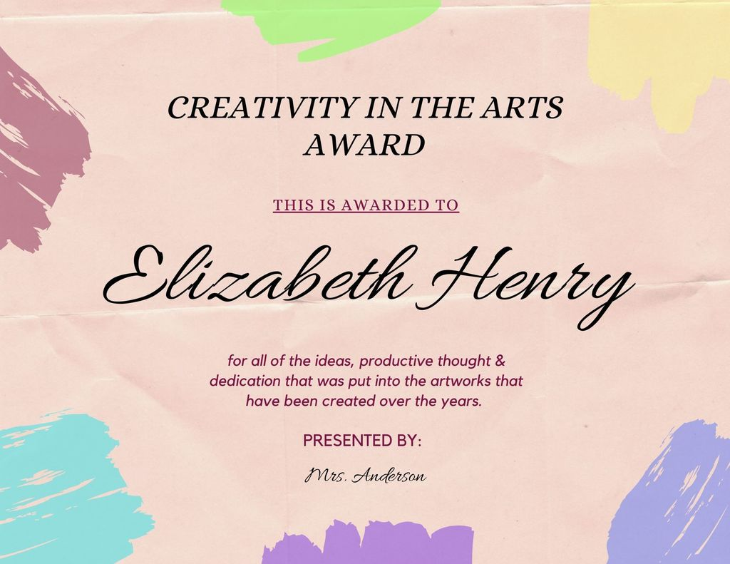 Elizabeth Henry Creativity Award