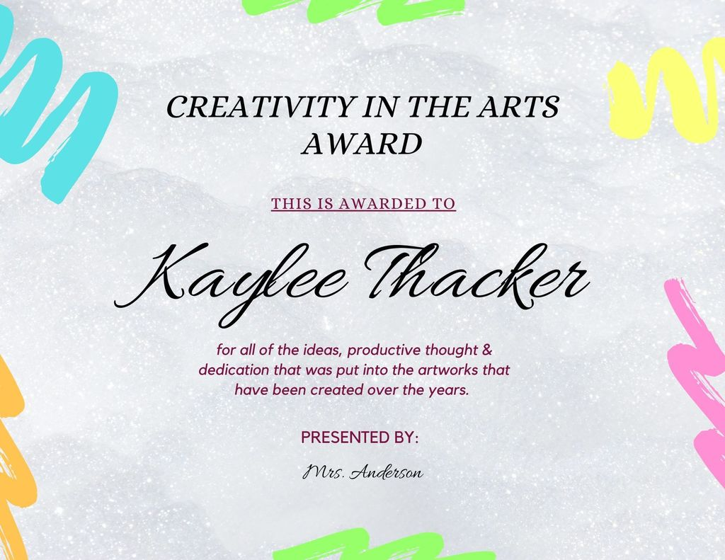Kaylee Thacker Creativity Award