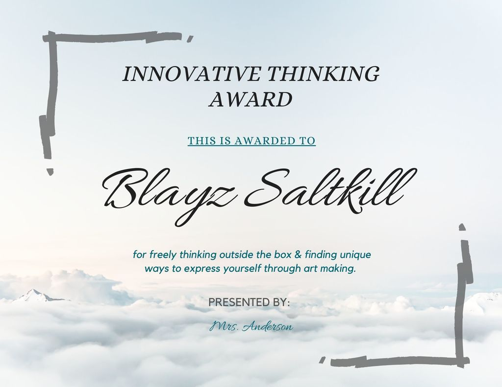 Blayz Saltkill Innovative Thinking
