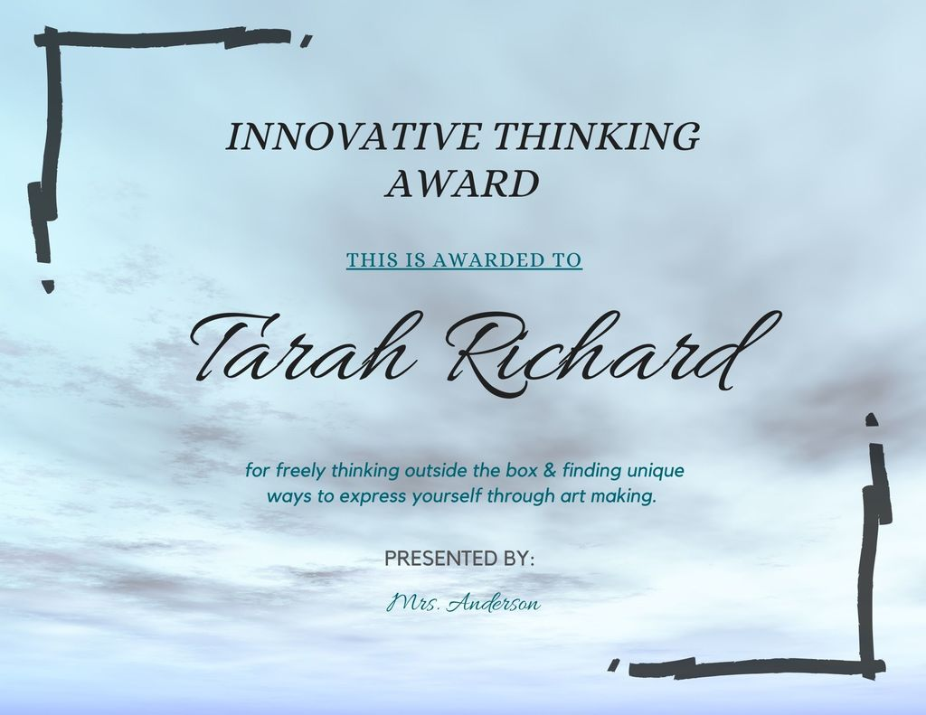 Tarah Richard Innovative Thinking