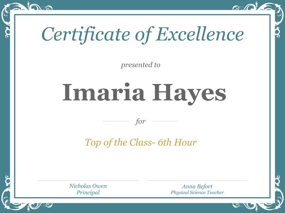 Top of the Class 6th Hour Physical Science