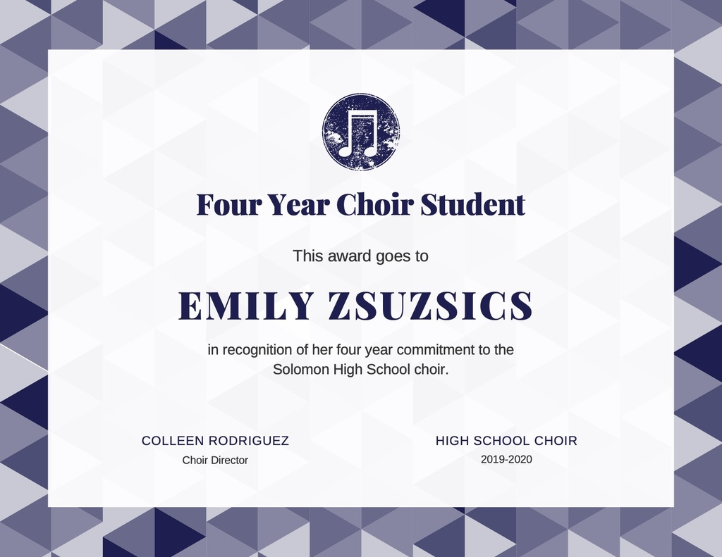 HS Choir Award