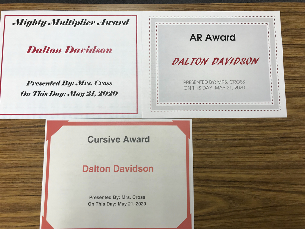 You're a hard worker, Dalton!  Keep it up!