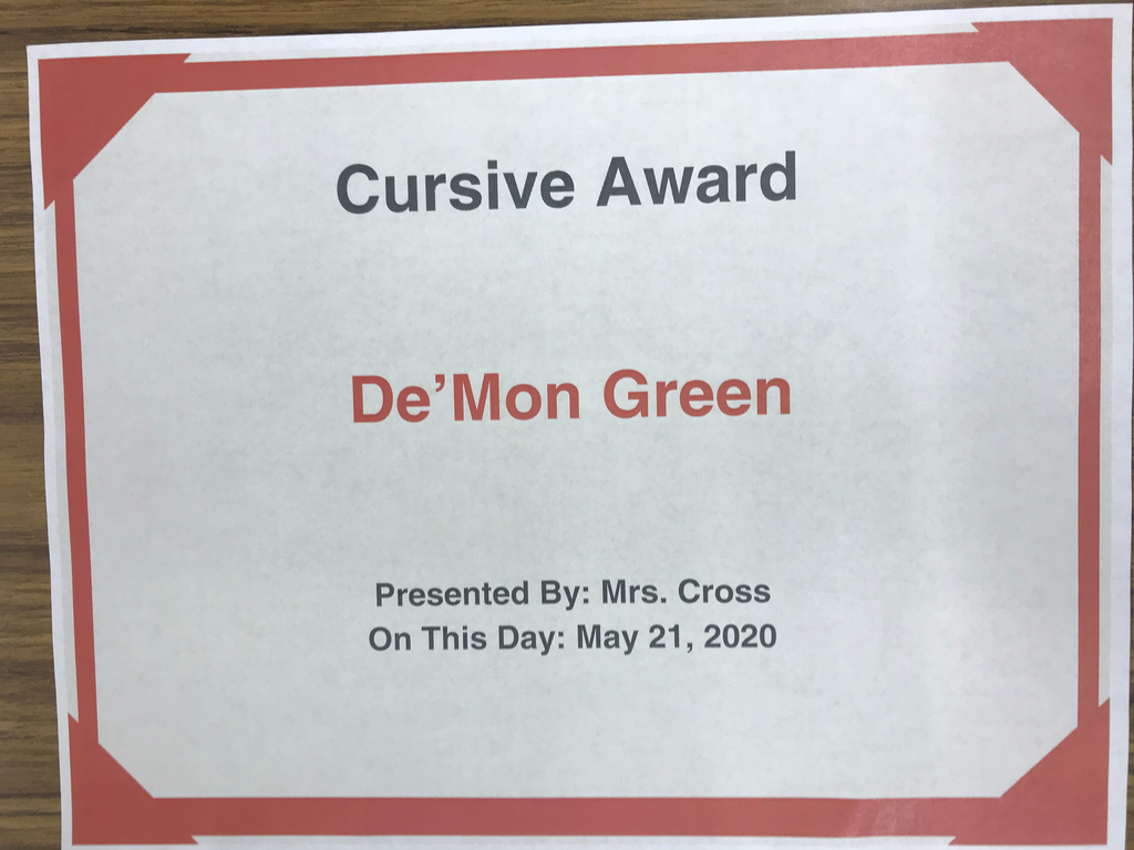 Keep using your cursive, De'Mon!